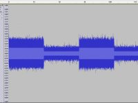 Waveform of a record using the microphon inside the OptoActive headphone
